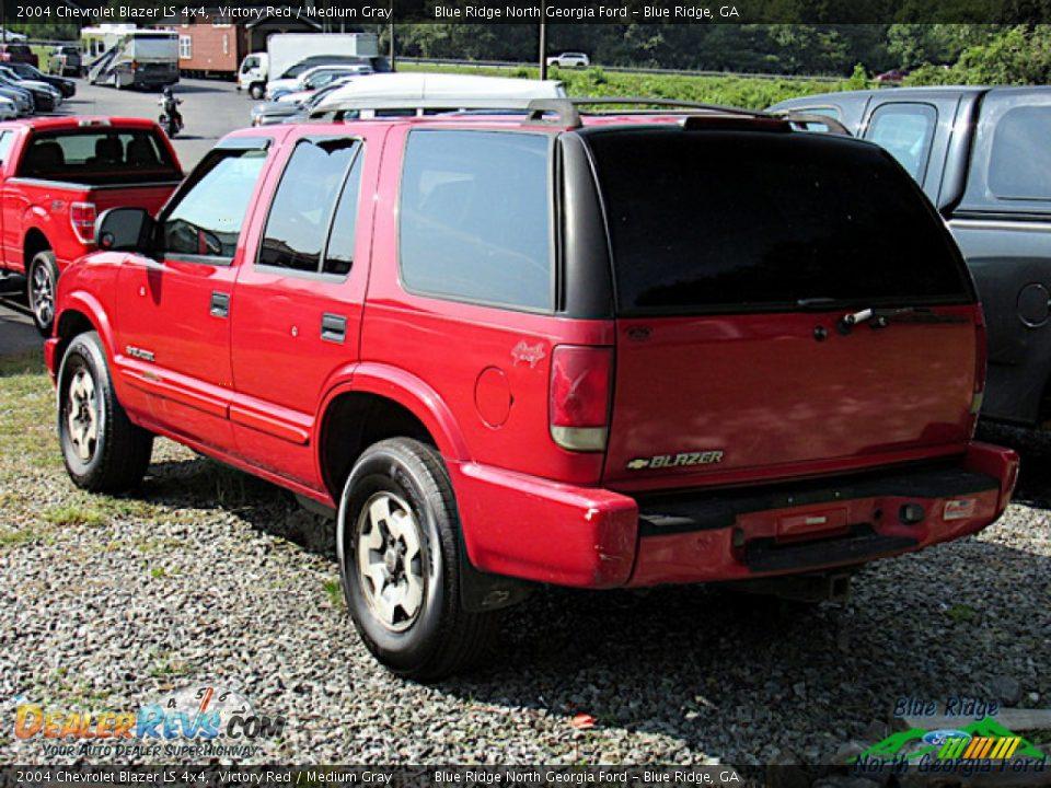 2004 Chevrolet Blazer LS 4x4 Victory Red / Medium Gray Photo #3
