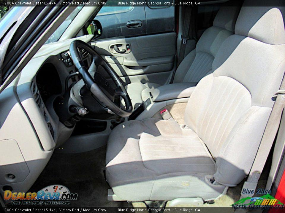 2004 Chevrolet Blazer LS 4x4 Victory Red / Medium Gray Photo #6