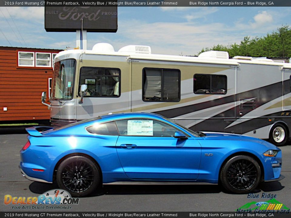 2019 Ford Mustang GT Premium Fastback Velocity Blue / Midnight Blue/Recaro Leather Trimmed Photo #6