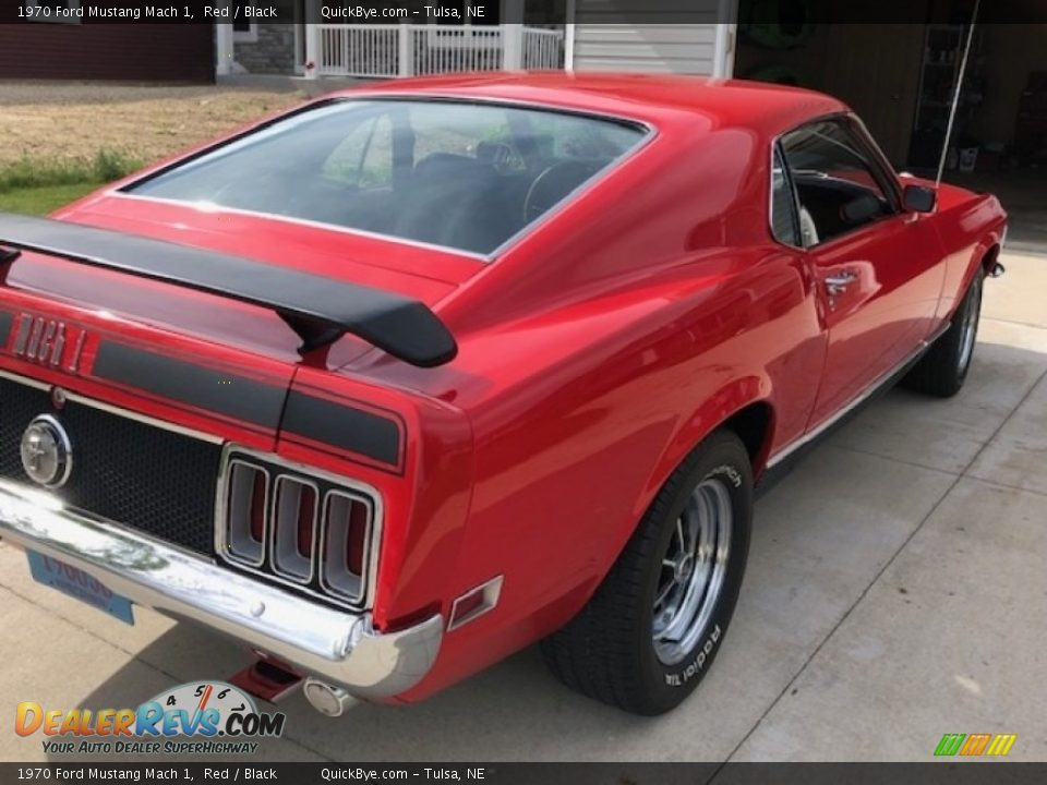 1970 Ford Mustang Mach 1 Red / Black Photo #4