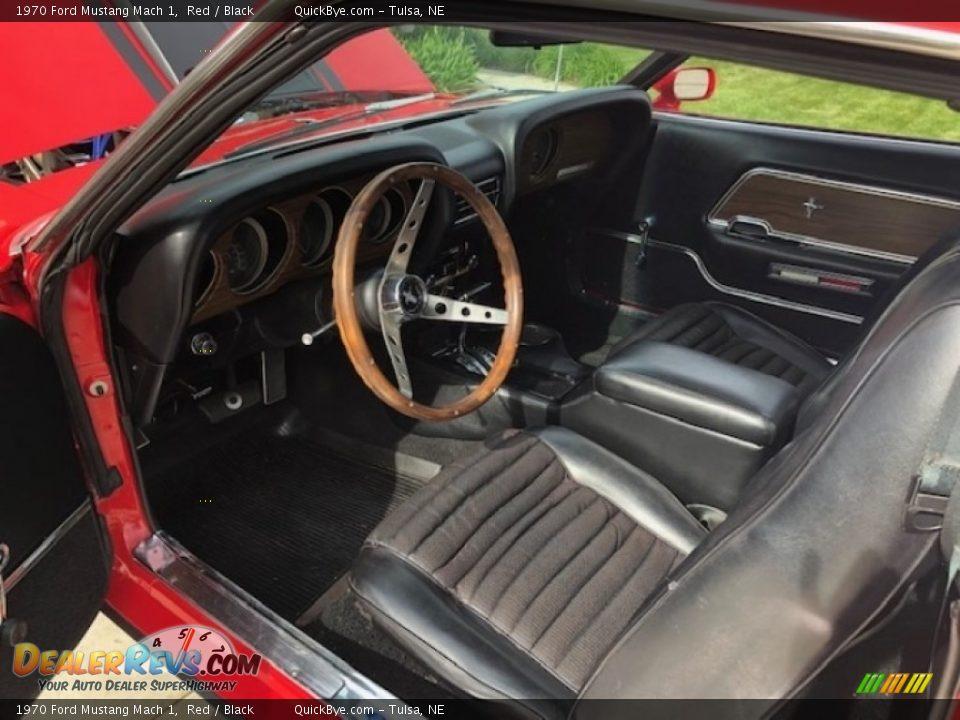 Black Interior - 1970 Ford Mustang Mach 1 Photo #8