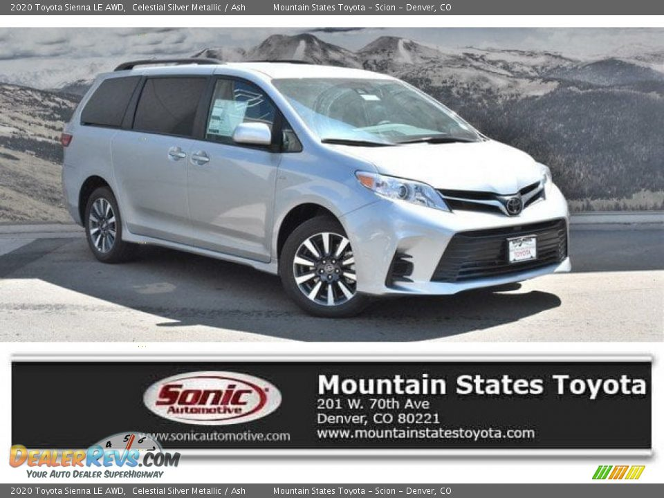 2020 Toyota Sienna LE AWD Celestial Silver Metallic / Ash Photo #1
