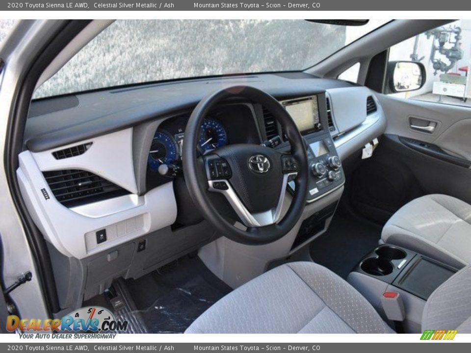 Ash Interior - 2020 Toyota Sienna LE AWD Photo #5