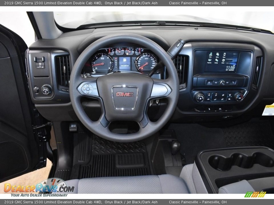 2019 GMC Sierra 1500 Limited Elevation Double Cab 4WD Onyx Black / Jet Black/Dark Ash Photo #8
