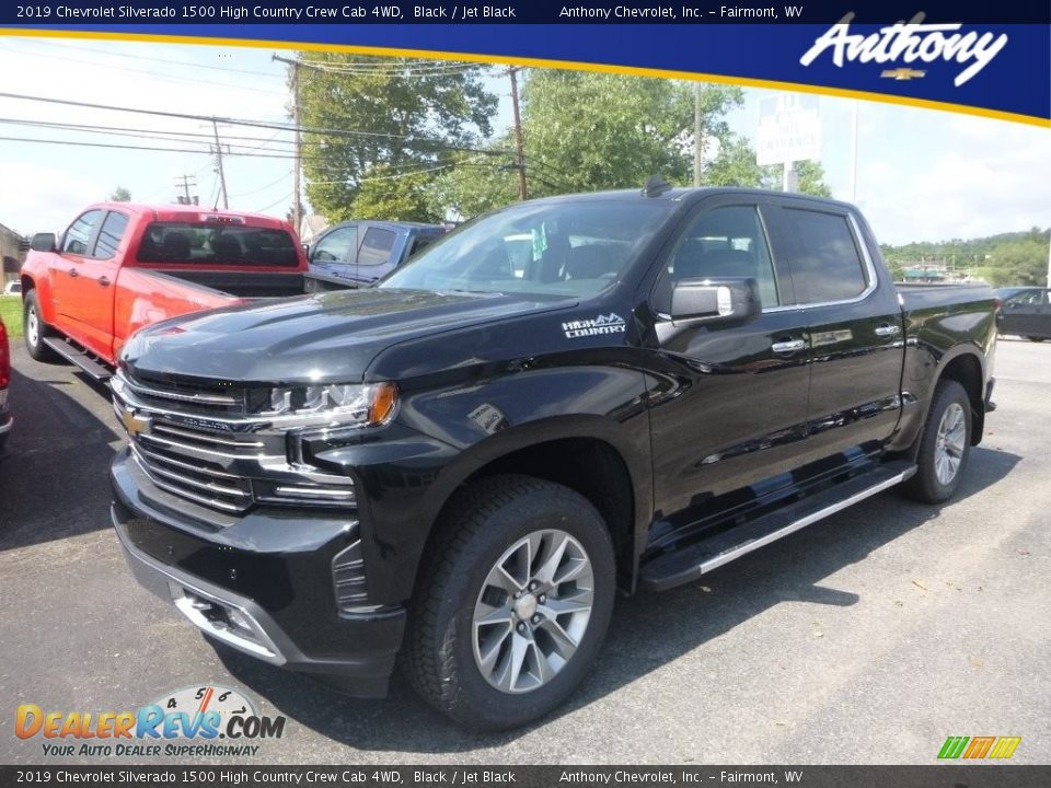 2019 Chevrolet Silverado 1500 High Country Crew Cab 4WD Black / Jet Black Photo #1