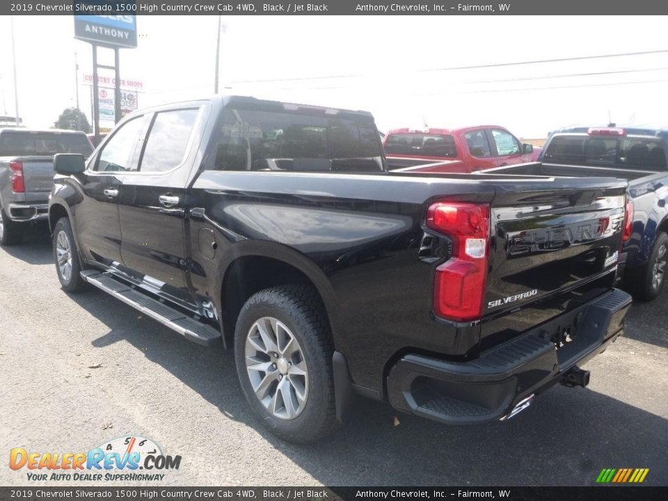 2019 Chevrolet Silverado 1500 High Country Crew Cab 4WD Black / Jet Black Photo #4