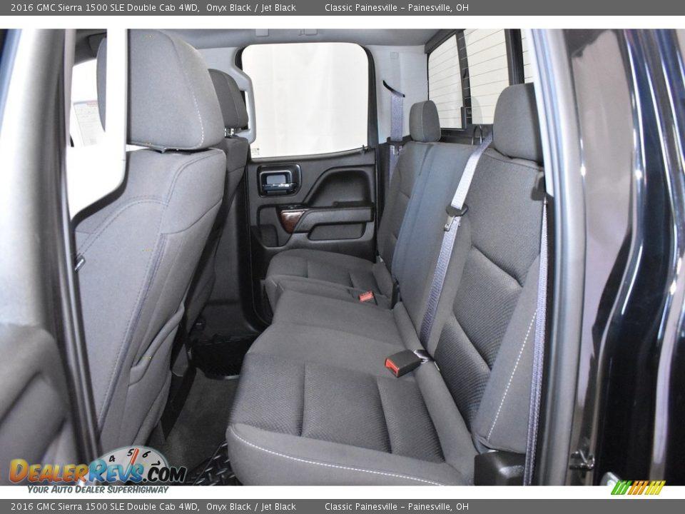 2016 GMC Sierra 1500 SLE Double Cab 4WD Onyx Black / Jet Black Photo #8