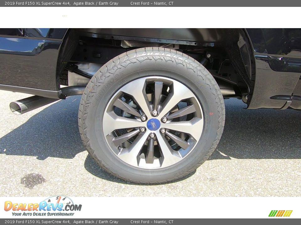 2019 Ford F150 XL SuperCrew 4x4 Agate Black / Earth Gray Photo #21