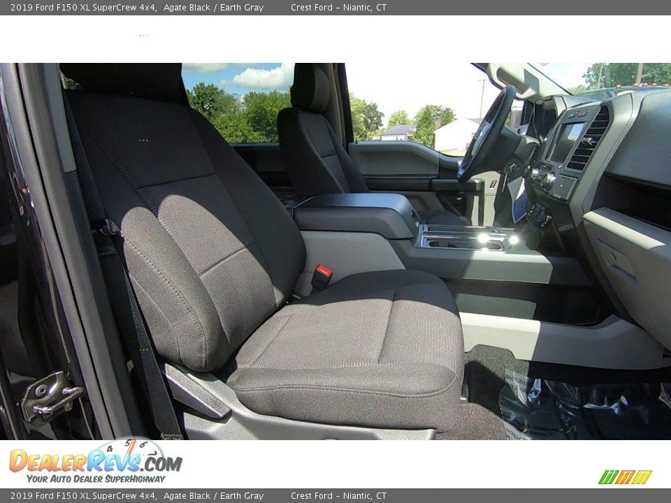 2019 Ford F150 XL SuperCrew 4x4 Agate Black / Earth Gray Photo #23