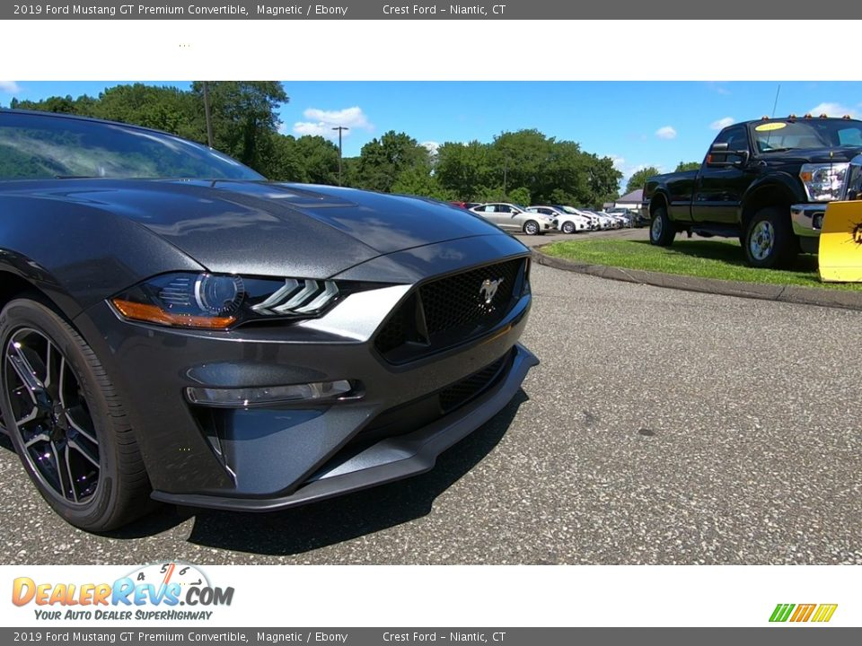 2019 Ford Mustang GT Premium Convertible Magnetic / Ebony Photo #26