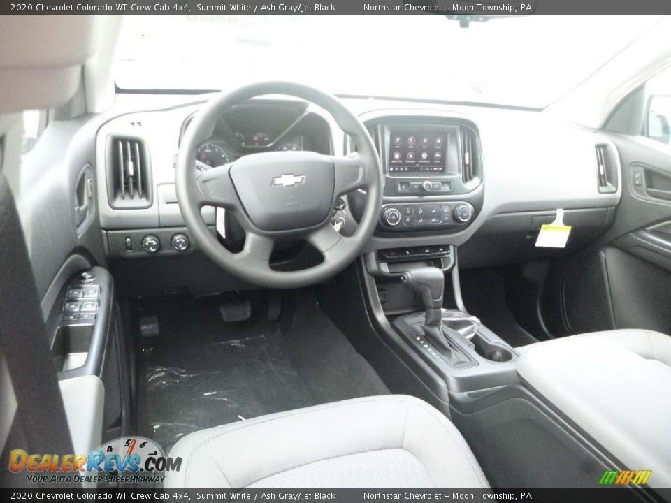 Ash Gray/Jet Black Interior - 2020 Chevrolet Colorado WT Crew Cab 4x4 Photo #14