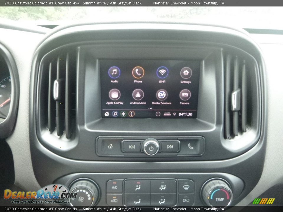 Controls of 2020 Chevrolet Colorado WT Crew Cab 4x4 Photo #18