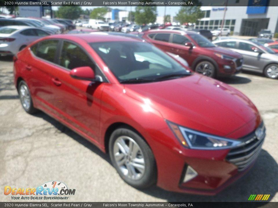 2020 Hyundai Elantra SEL Scarlet Red Pearl / Gray Photo #3