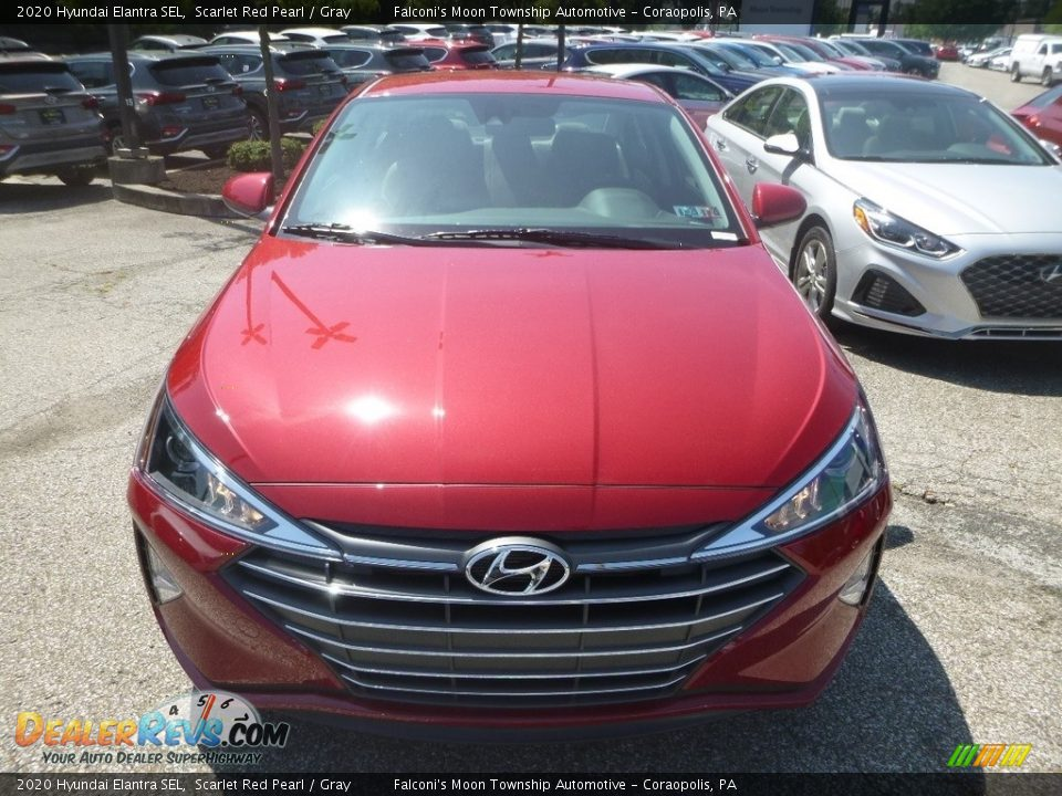 2020 Hyundai Elantra SEL Scarlet Red Pearl / Gray Photo #4
