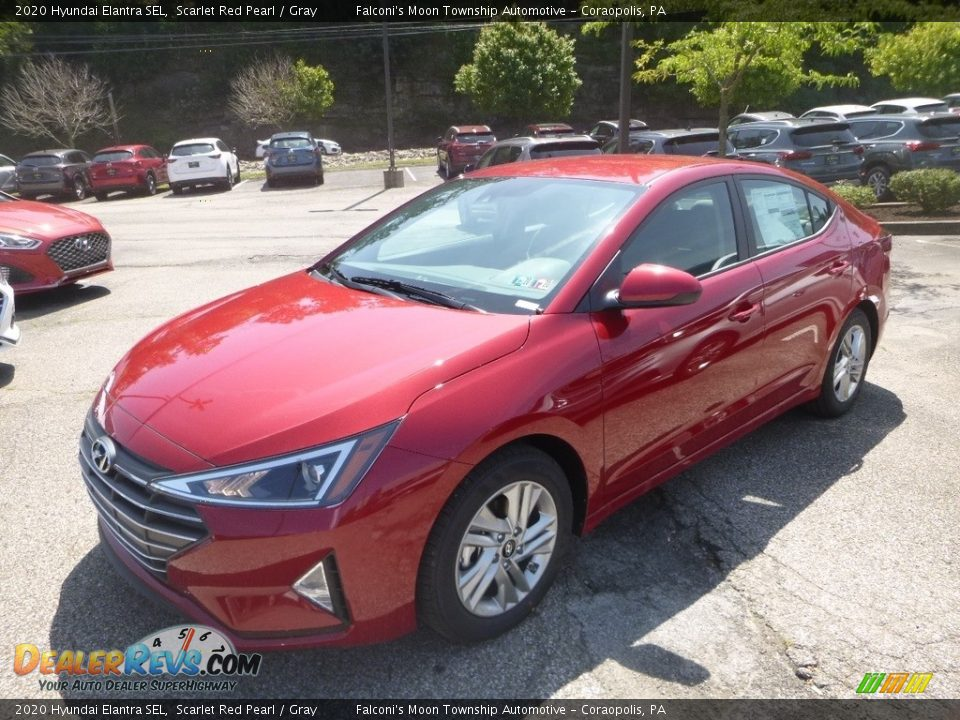 2020 Hyundai Elantra SEL Scarlet Red Pearl / Gray Photo #5
