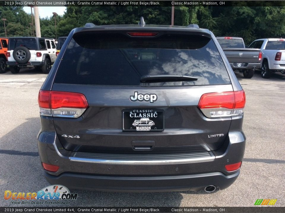 2019 Jeep Grand Cherokee Limited 4x4 Granite Crystal Metallic / Light Frost Beige/Black Photo #8