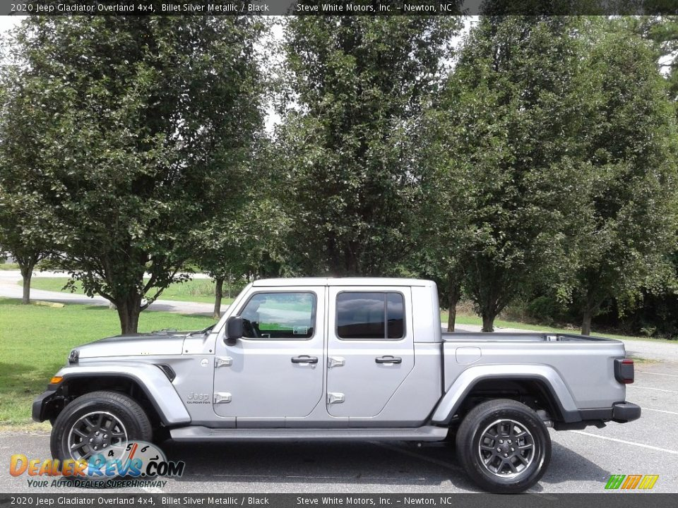 2020 Jeep Gladiator Overland 4x4 Billet Silver Metallic / Black Photo #1