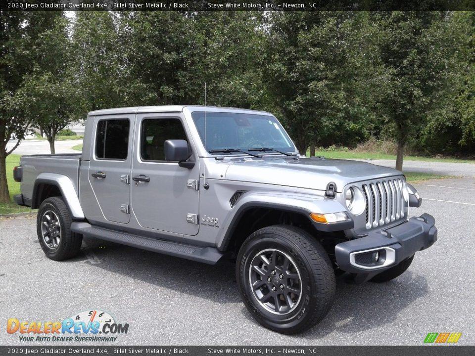 2020 Jeep Gladiator Overland 4x4 Billet Silver Metallic / Black Photo #4