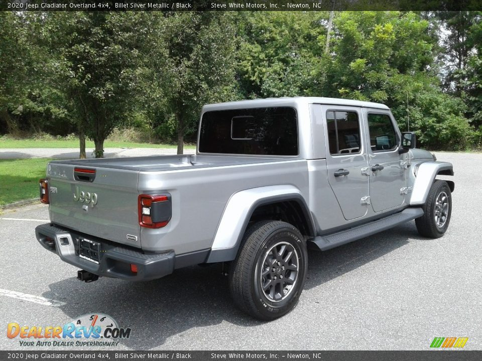 2020 Jeep Gladiator Overland 4x4 Billet Silver Metallic / Black Photo #6