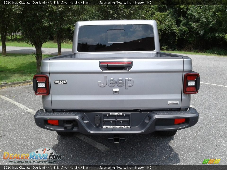 2020 Jeep Gladiator Overland 4x4 Billet Silver Metallic / Black Photo #7