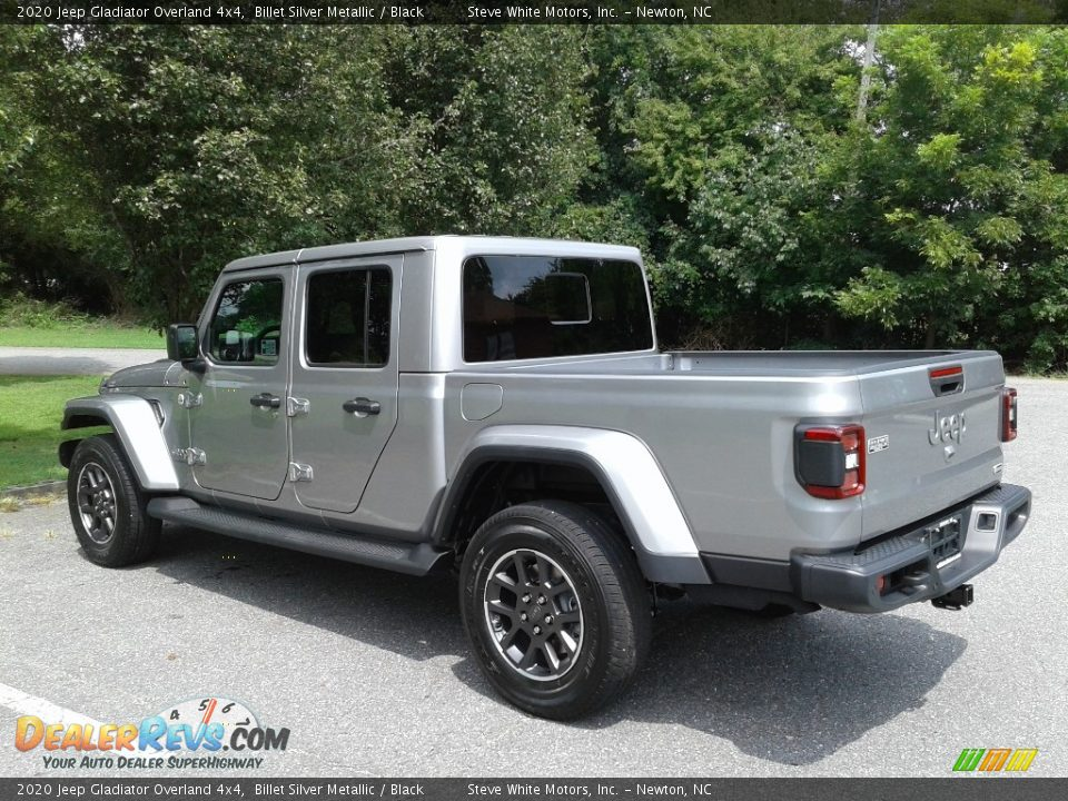 2020 Jeep Gladiator Overland 4x4 Billet Silver Metallic / Black Photo #8