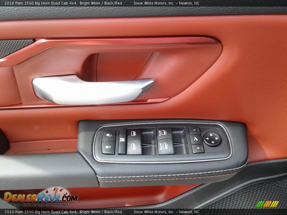2019 Ram 1500 Big Horn Quad Cab 4x4 Bright White / Black/Red Photo #9