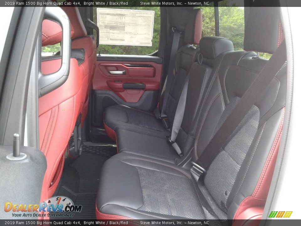 Rear Seat of 2019 Ram 1500 Big Horn Quad Cab 4x4 Photo #11