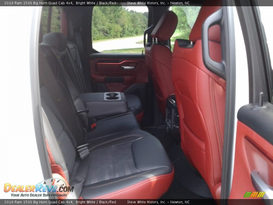 2019 Ram 1500 Big Horn Quad Cab 4x4 Bright White / Black/Red Photo #13