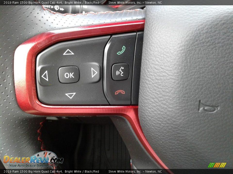2019 Ram 1500 Big Horn Quad Cab 4x4 Steering Wheel Photo #17