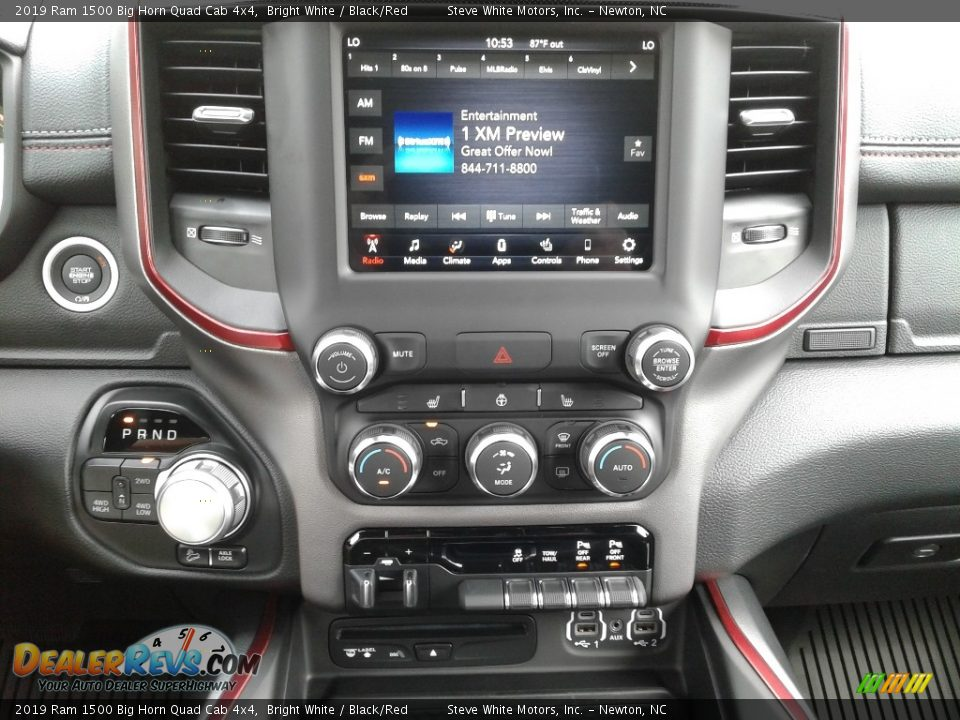 Controls of 2019 Ram 1500 Big Horn Quad Cab 4x4 Photo #20