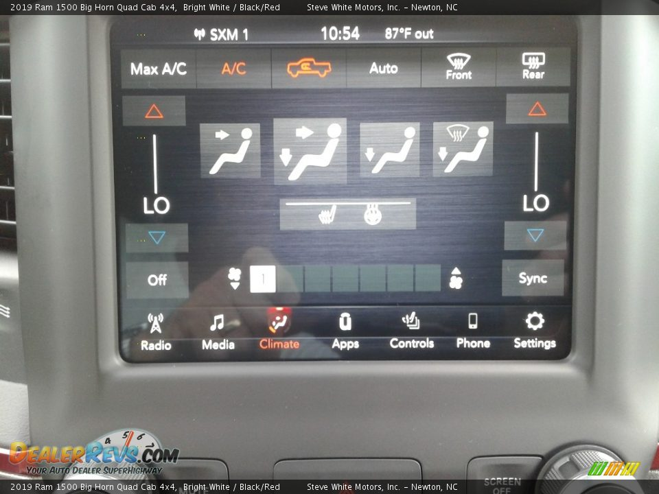 Controls of 2019 Ram 1500 Big Horn Quad Cab 4x4 Photo #23