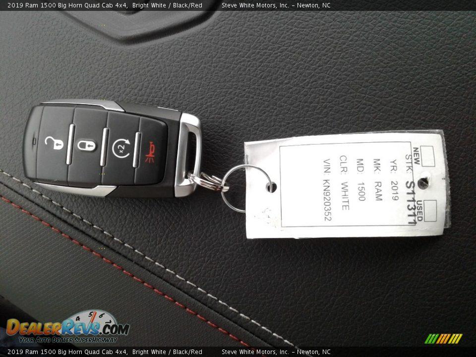 Keys of 2019 Ram 1500 Big Horn Quad Cab 4x4 Photo #30