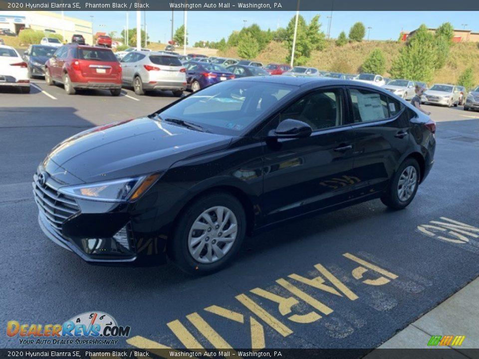 2020 Hyundai Elantra SE Phantom Black / Black Photo #7