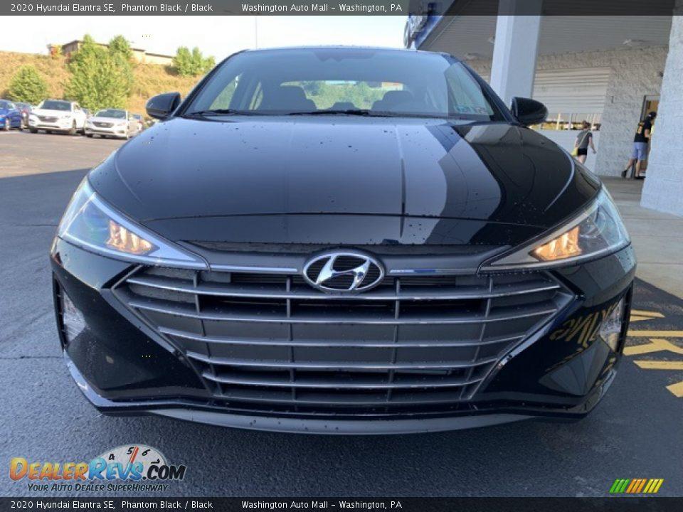 2020 Hyundai Elantra SE Phantom Black / Black Photo #8