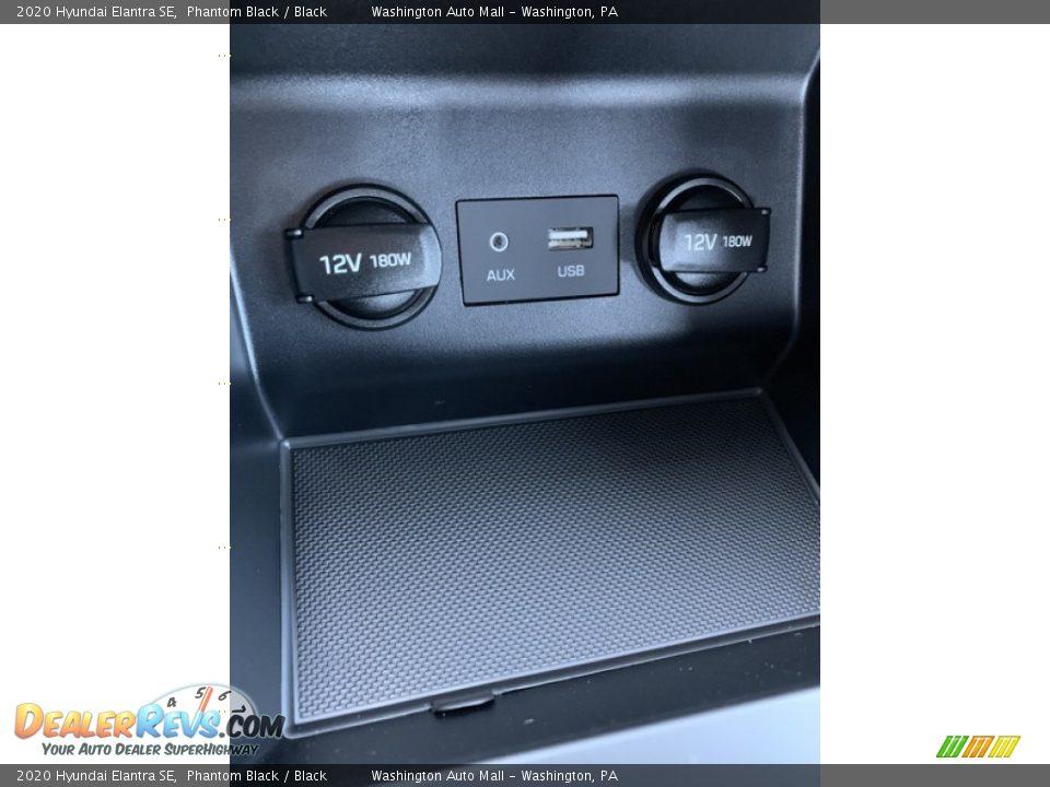 2020 Hyundai Elantra SE Phantom Black / Black Photo #36