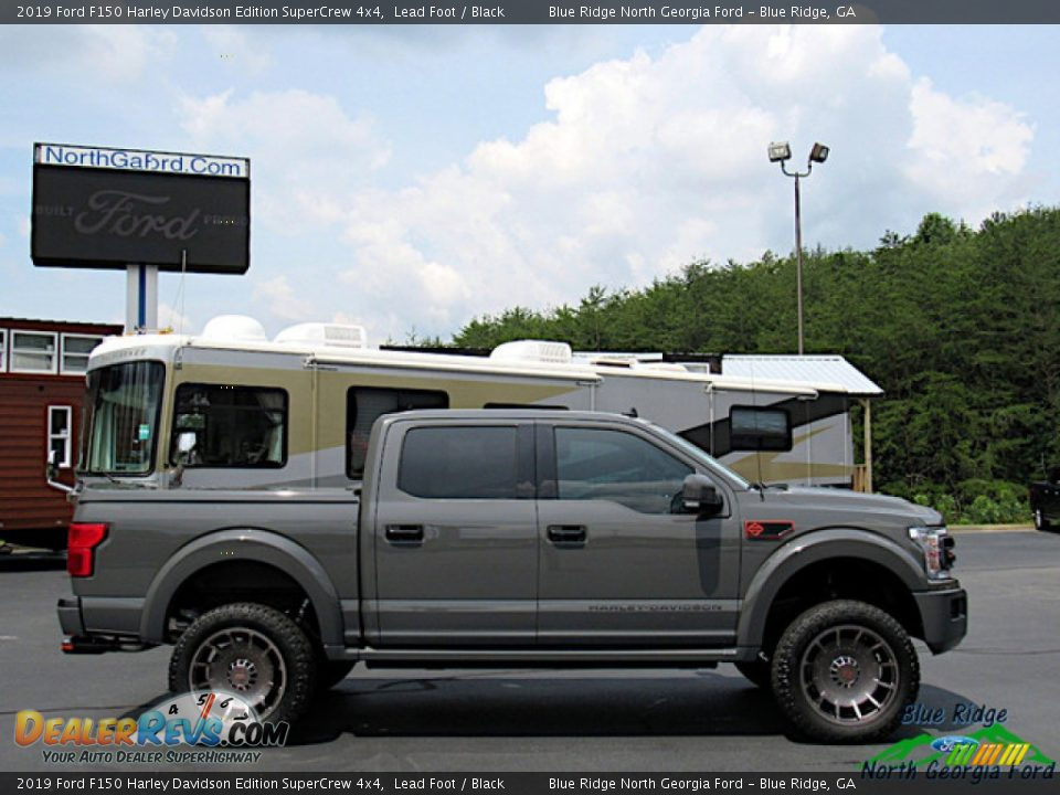 2019 Ford F150 Harley Davidson Edition SuperCrew 4x4 Lead Foot / Black Photo #6