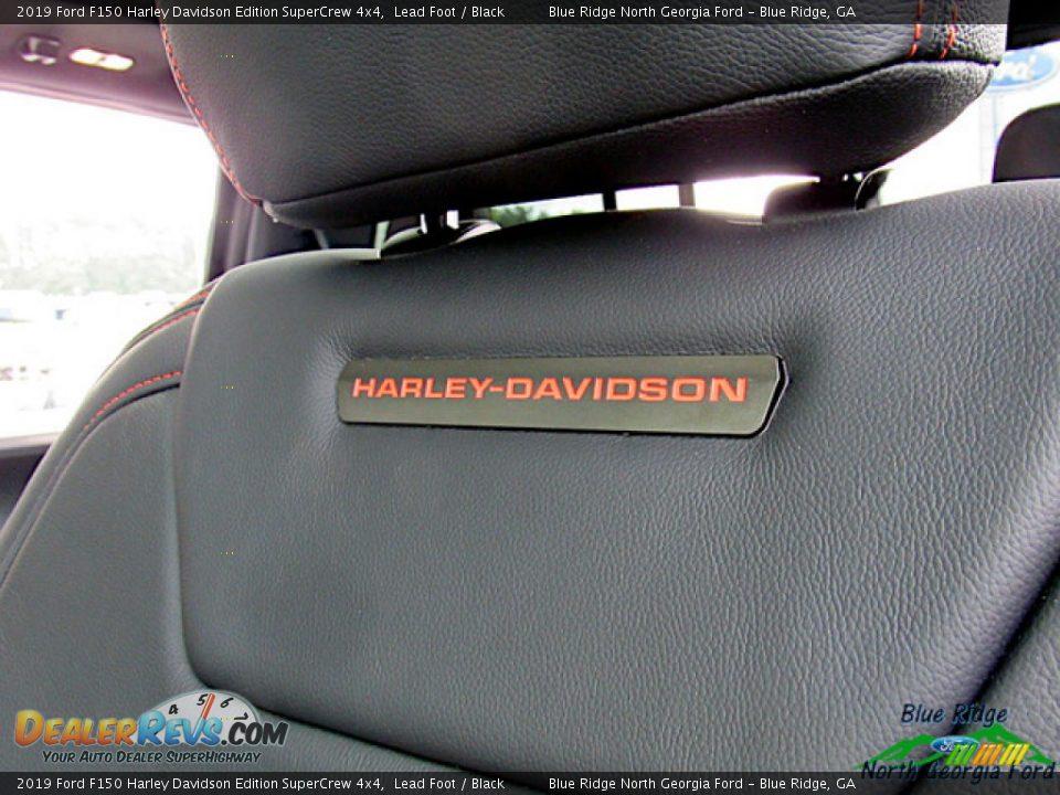2019 Ford F150 Harley Davidson Edition SuperCrew 4x4 Lead Foot / Black Photo #25