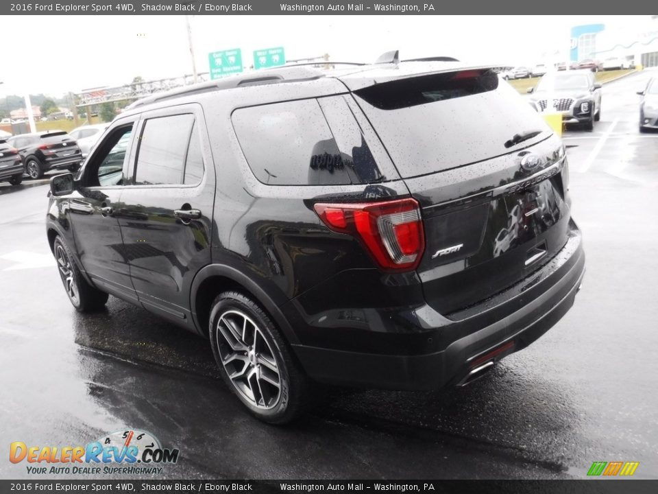 2016 Ford Explorer Sport 4WD Shadow Black / Ebony Black Photo #9