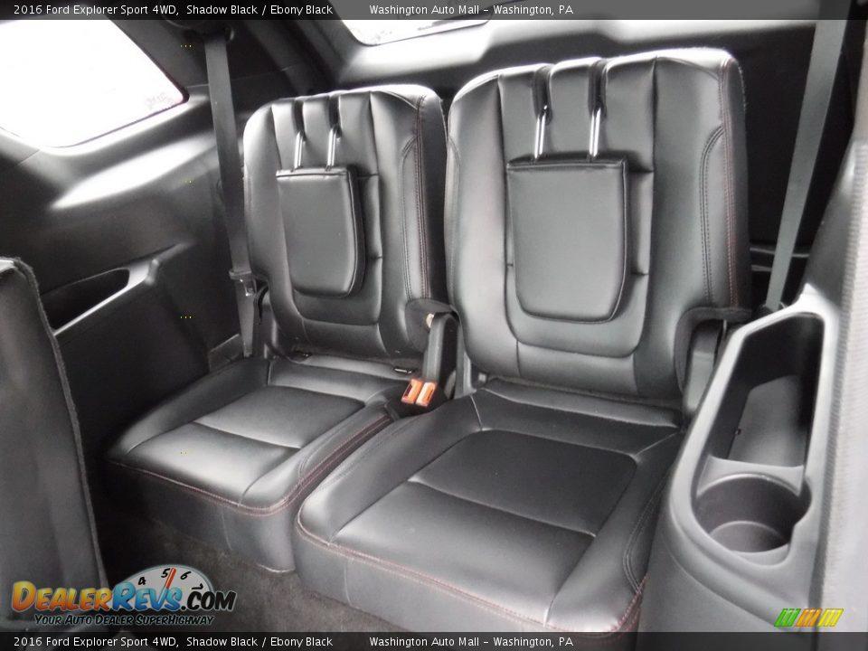 2016 Ford Explorer Sport 4WD Shadow Black / Ebony Black Photo #26