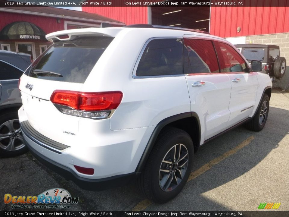 2019 Jeep Grand Cherokee Limited 4x4 Bright White / Black Photo #4