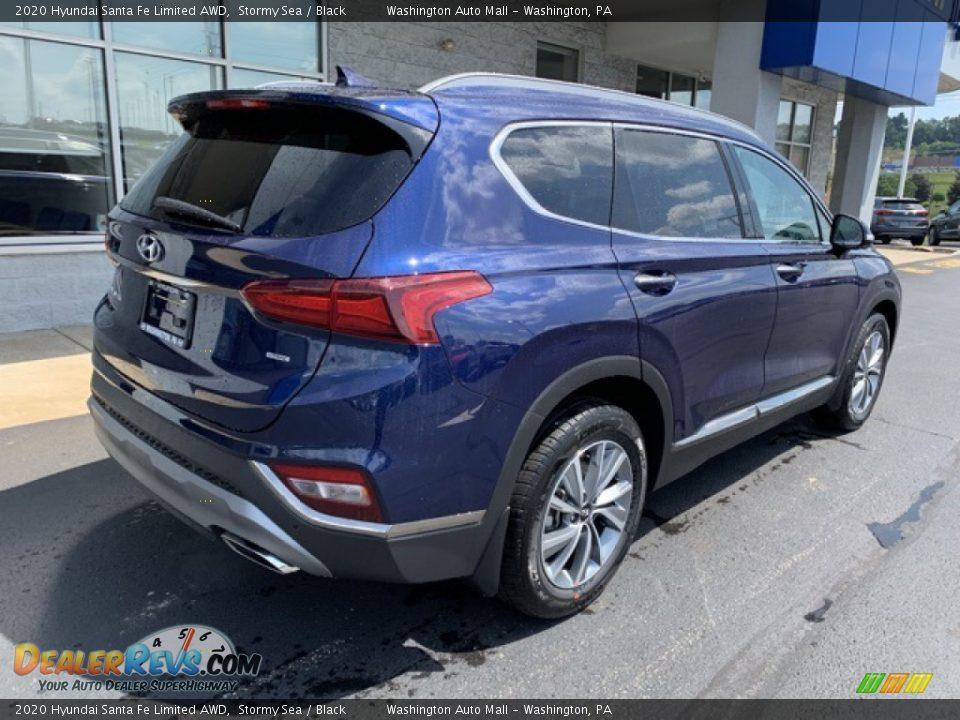 2020 Hyundai Santa Fe Limited AWD Stormy Sea / Black Photo #4