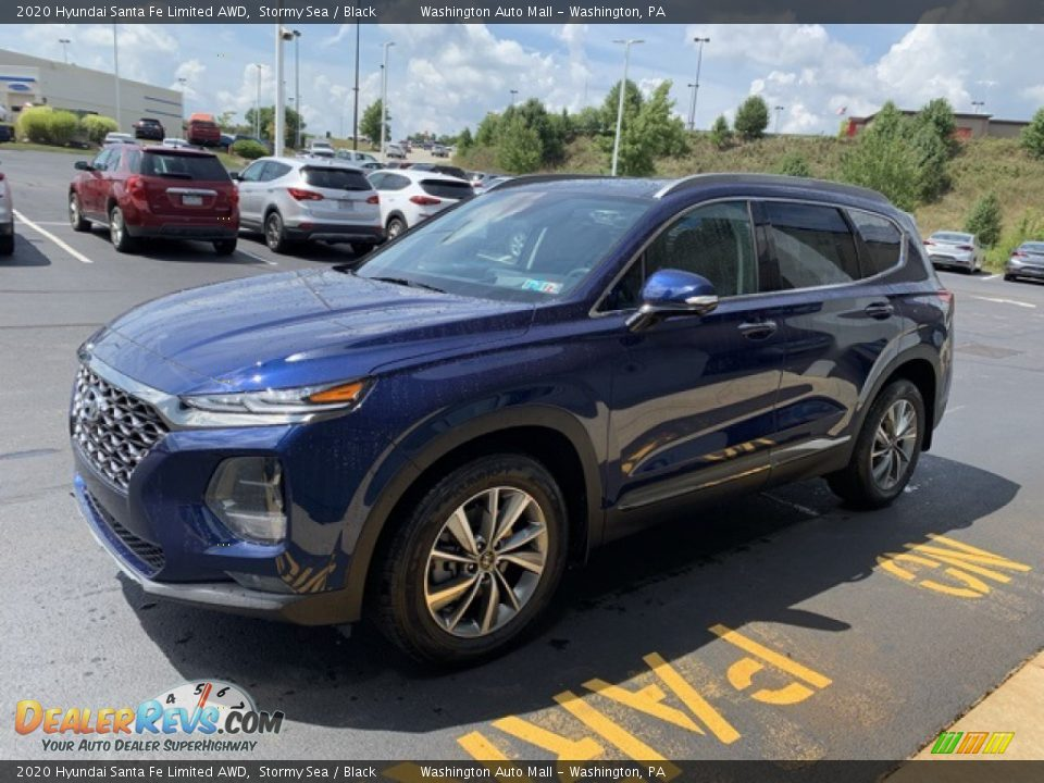 2020 Hyundai Santa Fe Limited AWD Stormy Sea / Black Photo #7