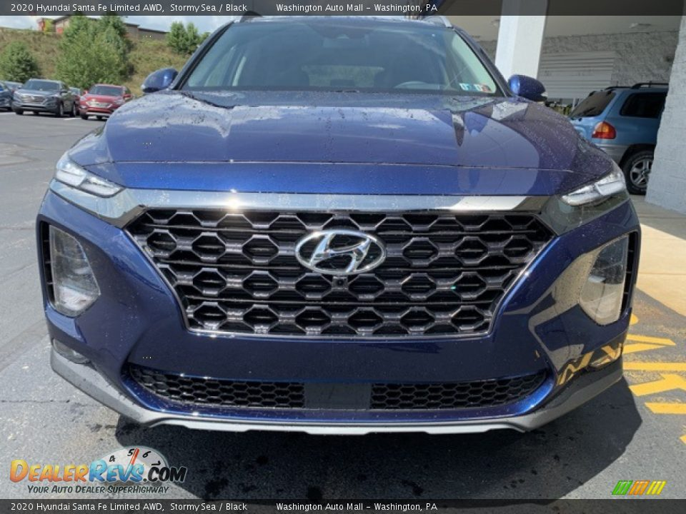 2020 Hyundai Santa Fe Limited AWD Stormy Sea / Black Photo #8