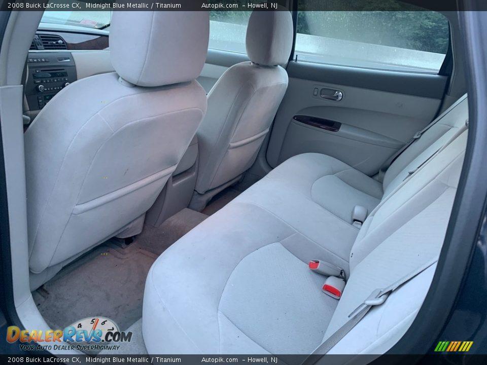 2008 Buick LaCrosse CX Midnight Blue Metallic / Titanium Photo #10