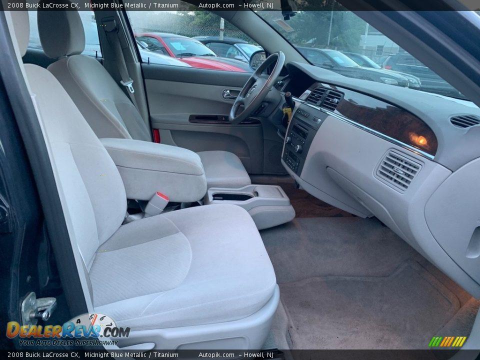 2008 Buick LaCrosse CX Midnight Blue Metallic / Titanium Photo #12