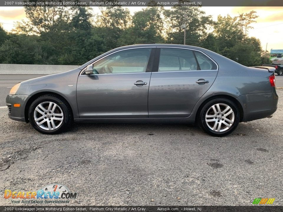 2007 Volkswagen Jetta Wolfsburg Edition Sedan Platinum Grey Metallic / Art Gray Photo #6