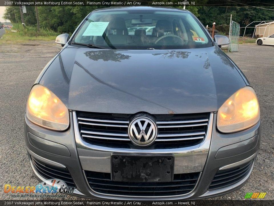 2007 Volkswagen Jetta Wolfsburg Edition Sedan Platinum Grey Metallic / Art Gray Photo #8