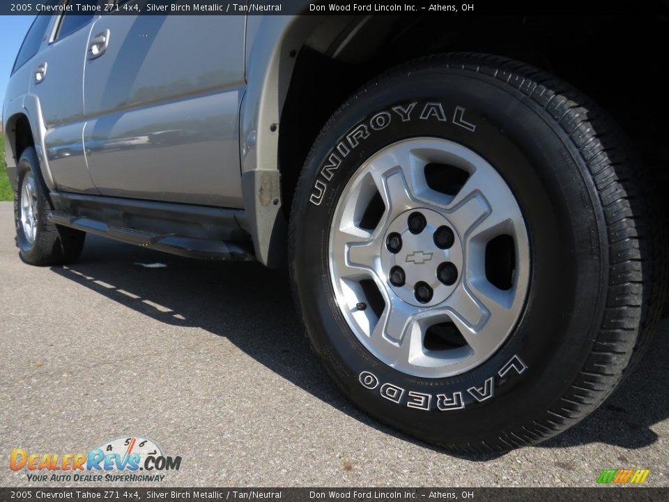 2005 Chevrolet Tahoe Z71 4x4 Silver Birch Metallic / Tan/Neutral Photo #4