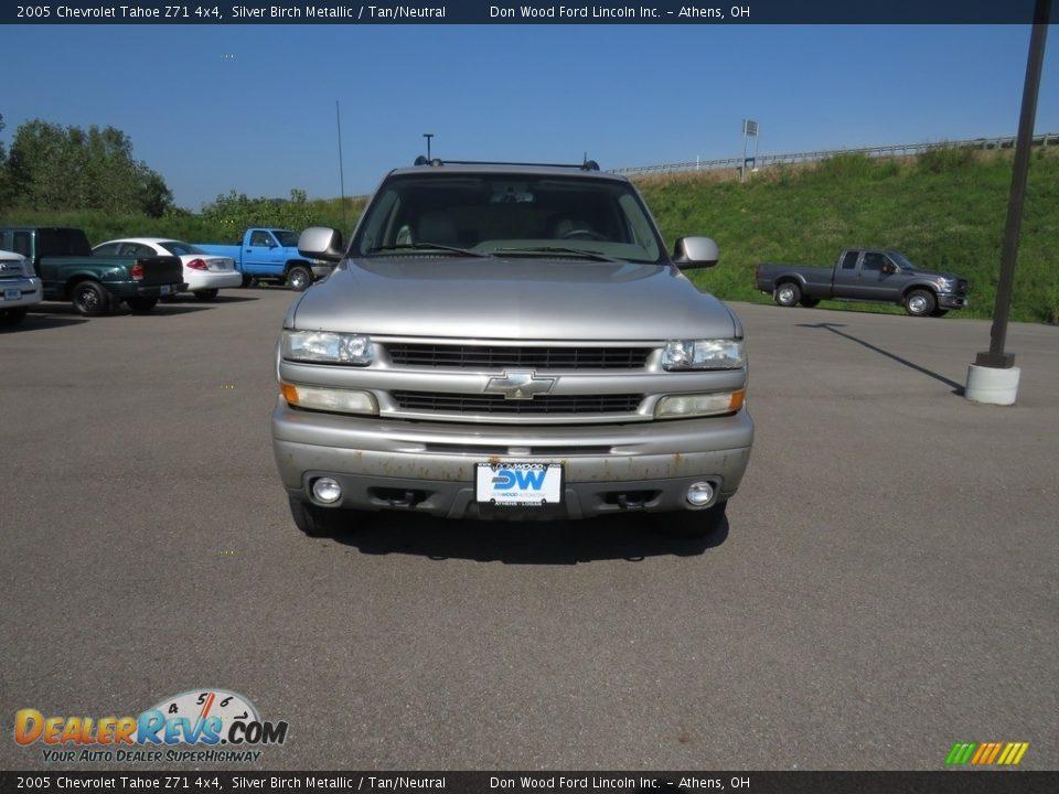 2005 Chevrolet Tahoe Z71 4x4 Silver Birch Metallic / Tan/Neutral Photo #5