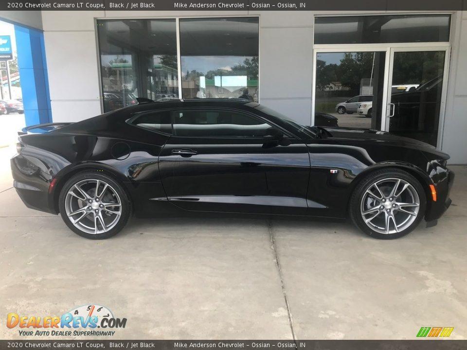 Black 2020 Chevrolet Camaro LT Coupe Photo #2